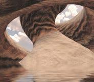 Canyon découpé Photographie stock libre de droits