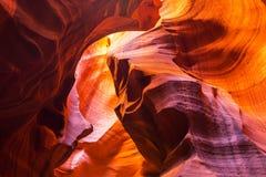 Canyon d'antilope, Arizona, paysage de perspective en automne image stock