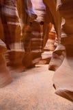 Canyon d'antilope sur un coucher du soleil Image libre de droits