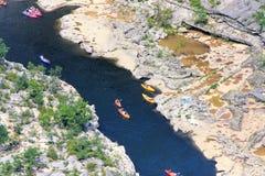 Canyon d'Ardeche, au sud des Frances Photos libres de droits