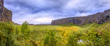 Canyon d'Asbyrgi Images libres de droits