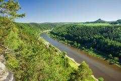 Canyon d'Elbe Photo libre de droits