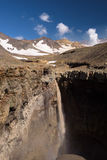 Canyon d'Opasny sur les pentes du volcan de Mutnovsky Photos stock