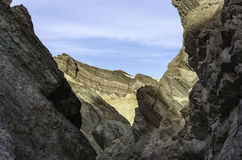 Canyon d'or, parc national de Death Valley la Californie Photo stock