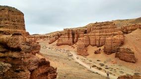 canyon de carapace avec des montagnes images stock