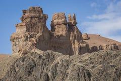 Canyon de Charyn et la vallée des châteaux, parc national, Kazakhst Image libre de droits