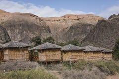 Canyon de Charyn et la vallée des châteaux, parc national, Kazakhst Photographie stock