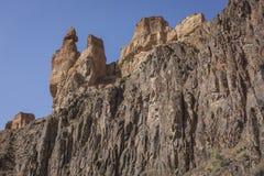 Canyon de Charyn et la vallée des châteaux, parc national, Kazakhst Images libres de droits