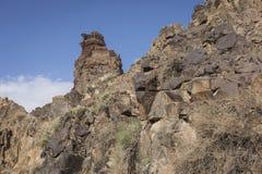 Canyon de Charyn et la vallée des châteaux, parc national, Kazakhst Image stock