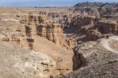 Canyon de Charyn et la vallée des châteaux, parc national, Kazakhst Images stock