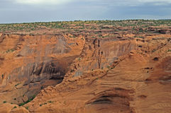 Canyon de Chelly. Noted desert canyon shows its orange colors stock image