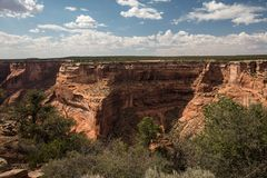 Canyon de Chelly Cliffs Photographie stock libre de droits