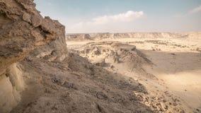 Canyon de désert dans le désert de l'Iran Image stock