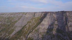 Canyon de Delika de rivière Nervion, Espagne banque de vidéos