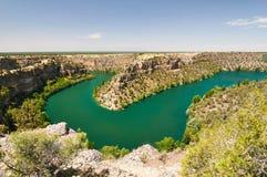 Canyon de Duraton à Ségovie, Espagne Image stock