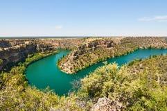 Canyon de Duraton à Ségovie, Espagne Photo libre de droits