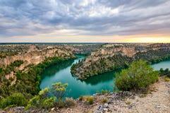 Canyon de Duraton à Ségovie, Espagne Photographie stock