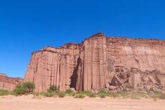 Canyon de formation de roche de Talampaya, Argentine photo stock