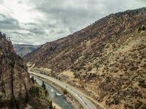 Canyon de Glenwood - le Colorado Image stock