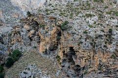 Canyon de gorge de Kourtaliotiko, île de Crète, Grèce Images stock