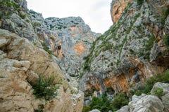 Canyon de Gorropu Photographie stock