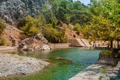 Canyon de Goynuk près de Kemer, Turquie images stock