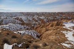 Canyon de jaune de canyon de Zhabyr photographie stock