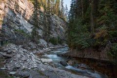 Canyon de Johnston en parc national de Banff - Canada image stock