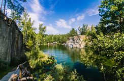 Canyon de Korostyshiv, lac profond photo stock