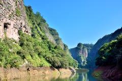Canyon de lac dans Taining, Fujian, Chine Image stock