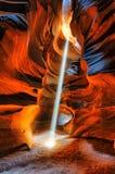 Canyon de lumière et d'antilope d'ombres Images libres de droits