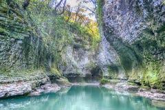 Canyon de Martvili Photo stock