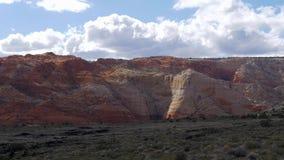 Canyon de neige en Utah - beau paysage banque de vidéos