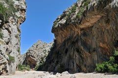canyon de pareis χείμαρρος Στοκ Εικόνες