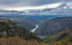 Canyon de Rio Sil in Galicia, Spain Royalty Free Stock Image