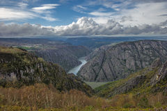 Canyon de Rio Sil in Galicia, Spain Royalty Free Stock Photo
