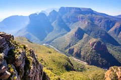 Canyon de rivière de Blyde en Afrique du Sud photo libre de droits