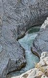 Canyon de rivière d'Alcantara Image libre de droits