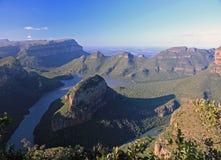 Canyon de rivière de Blyde dans Mpumalanga Photographie stock