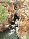 Canyon de rivière de Blyde de nids de poule de chance de Bourkes Image libre de droits