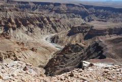 Canyon de rivière de poissons. La Namibie du sud photographie stock