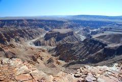 Canyon de rivière de poissons La Namibie du sud photos stock