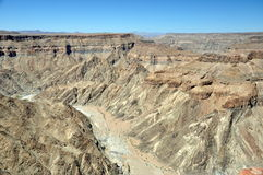 Canyon de rivière de poissons, Namibie Photos stock