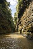 Canyon de rivière, Fidji Images libres de droits