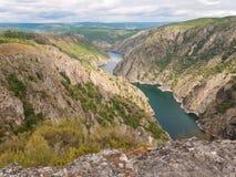 Canyon de rivière de Sil dans la province d'Orense, Galicie, Espagne Images libres de droits