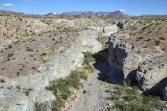 Canyon de tuf, parc national de grande courbure Photos stock
