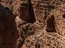Canyon de vallée de Dades Images stock