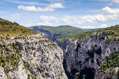 Canyon de Verdon, the Verdon Gorge,  France, Provence Royalty Free Stock Photography