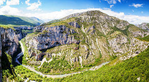 Canyon de Verdon, the Verdon Gorge,  France, Provence Stock Photography