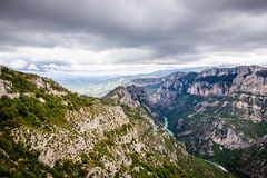 Canyon de Verdon, the Verdon Gorge,  France, Provence Royalty Free Stock Images